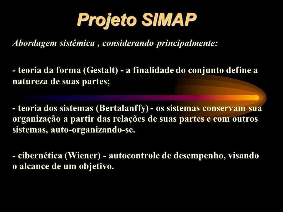 Projeto SIMAP Abordagem sistêmica , considerando principalmente: