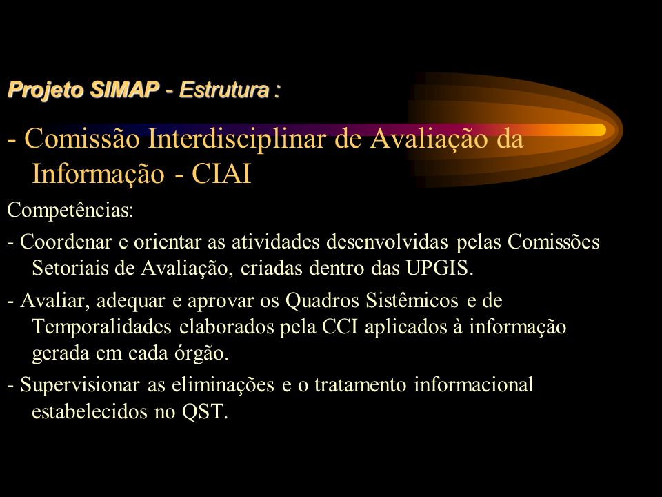 Projeto SIMAP - Estrutura : 