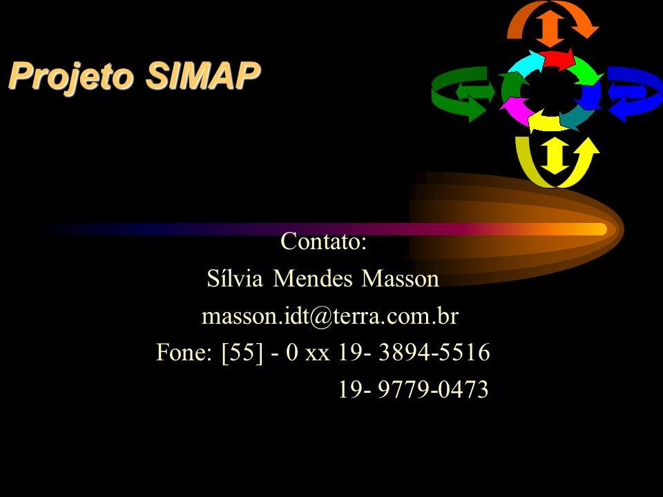 Projeto SIMAP Contato: Sílvia Mendes Masson masson.idt@terra.com.br