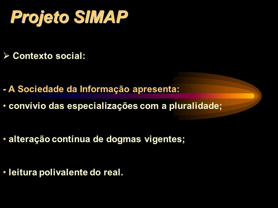 Projeto SIMAP  Contexto social: