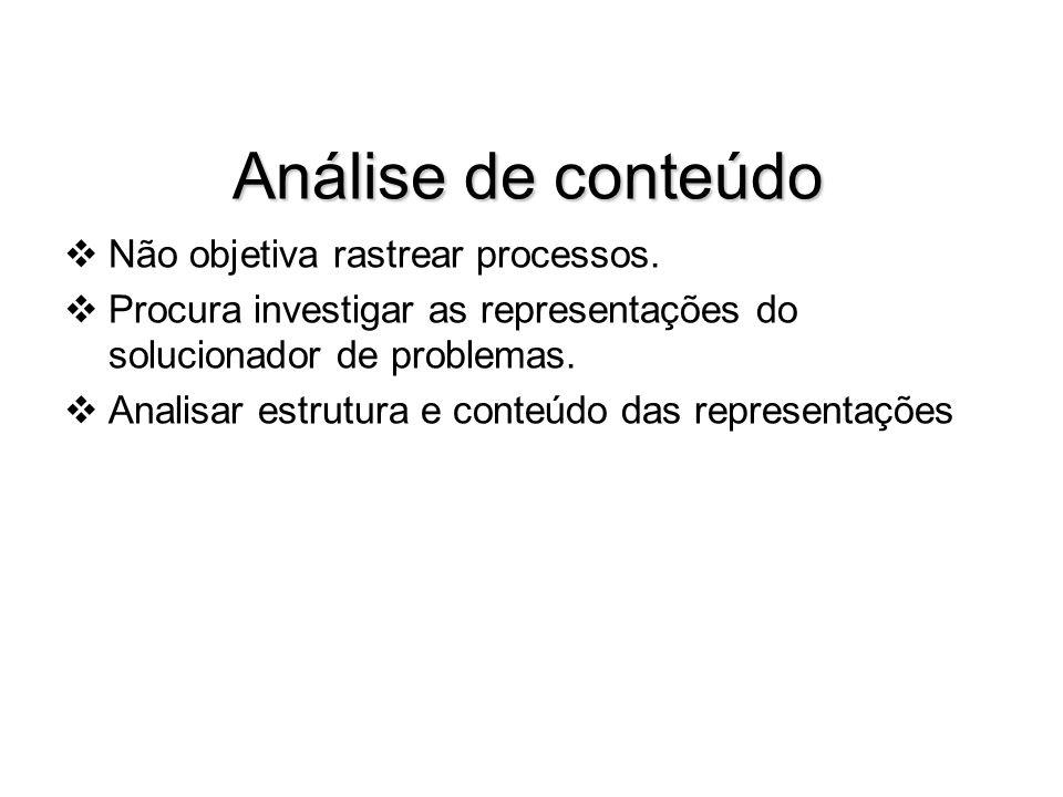 Análise de conteúdo Não objetiva rastrear processos.