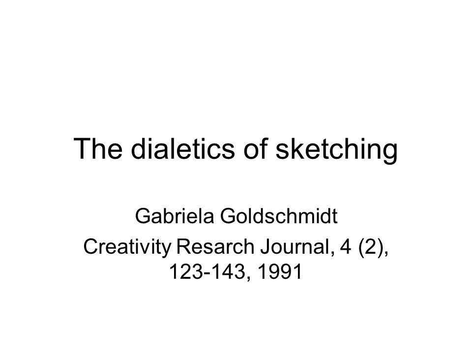 The dialetics of sketching