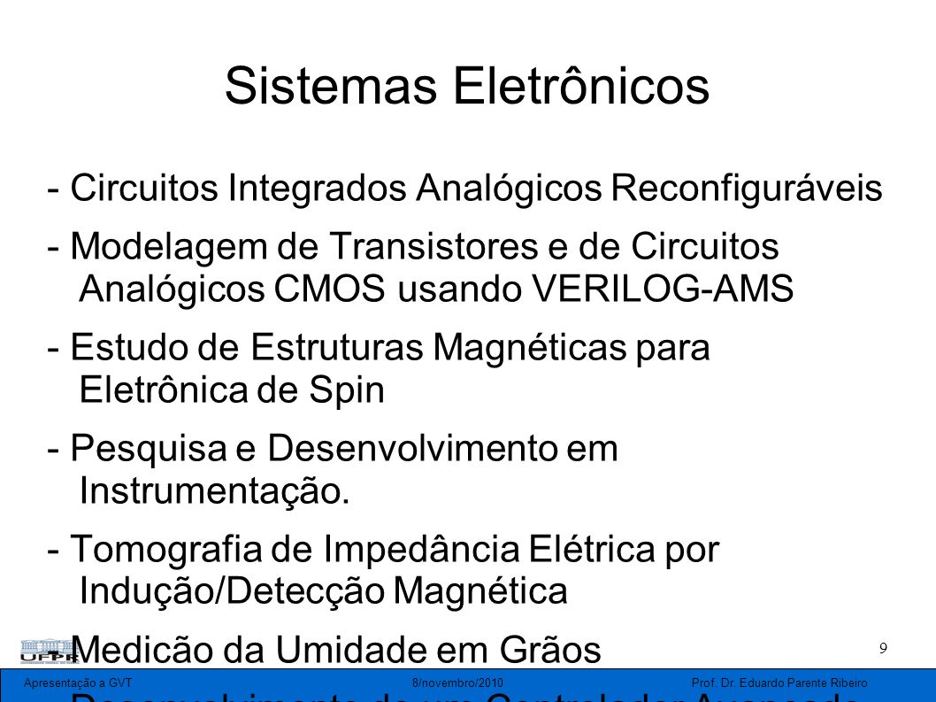 Sistemas Eletrônicos - Circuitos Integrados Analógicos Reconfiguráveis