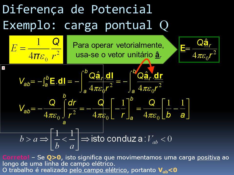 Para operar vetorialmente, usa-se o vetor unitário âr