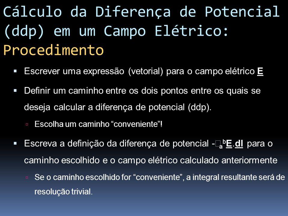 Cálculo da Diferença de Potencial (ddp) em um Campo Elétrico: Procedimento