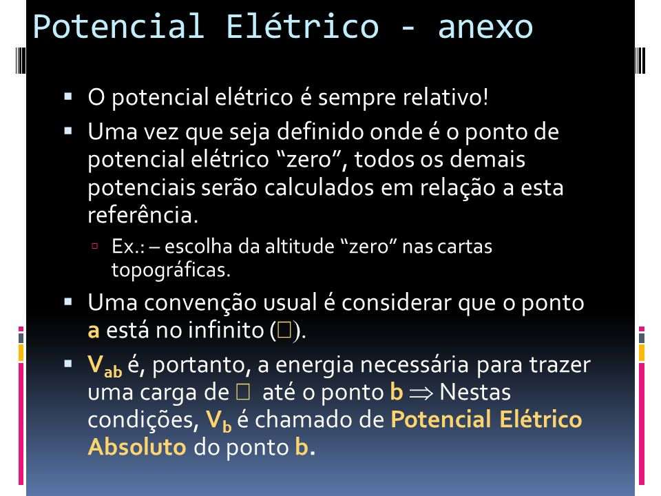 Potencial Elétrico - anexo