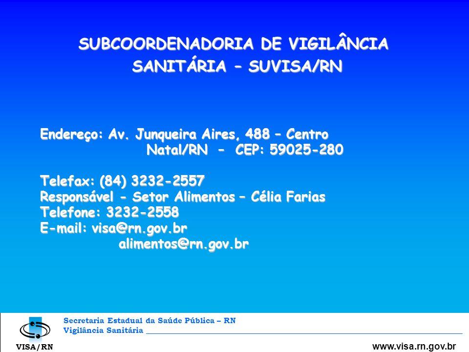 SUBCOORDENADORIA DE VIGILÂNCIA