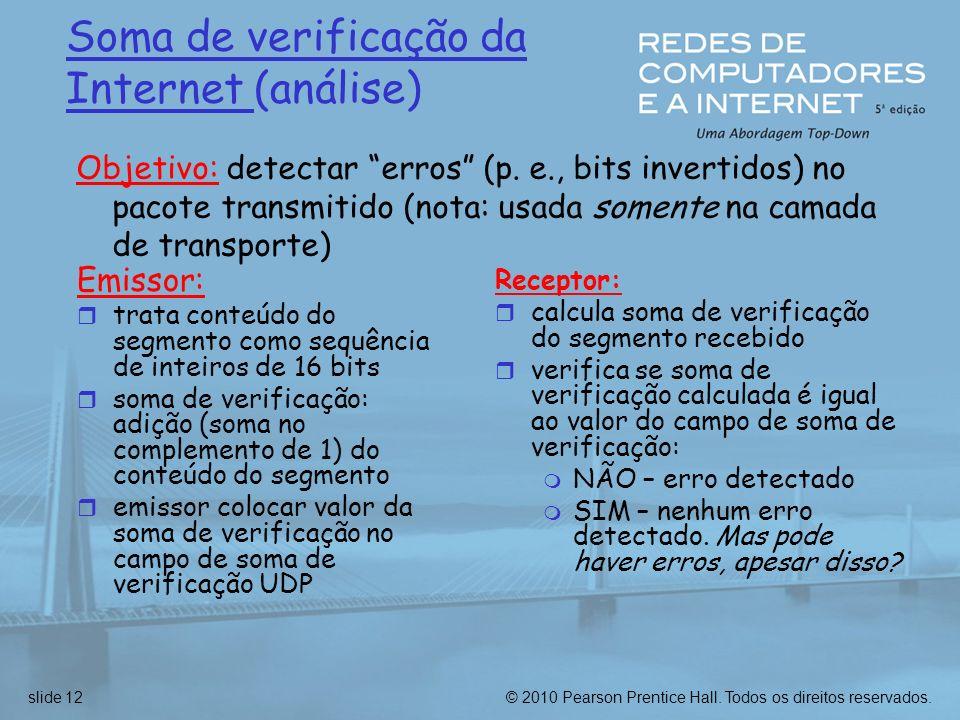 Soma de verificação da Internet (análise)