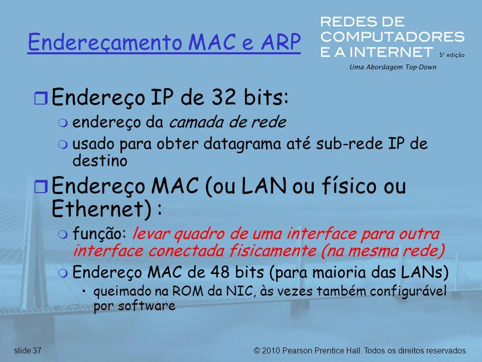 Endereçamento MAC e ARP