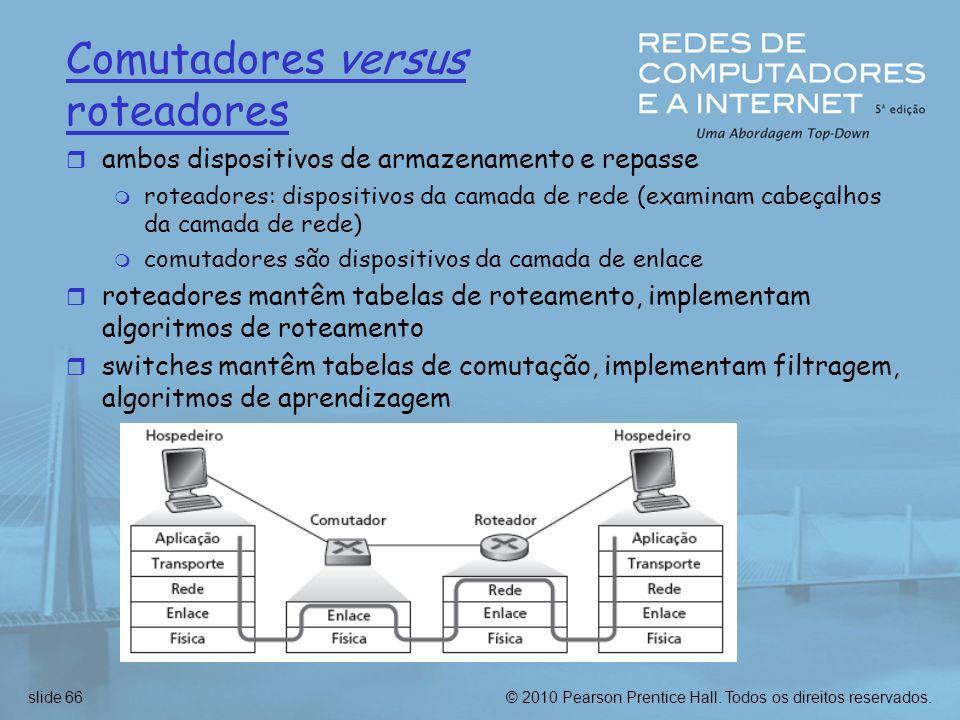Comutadores versus roteadores