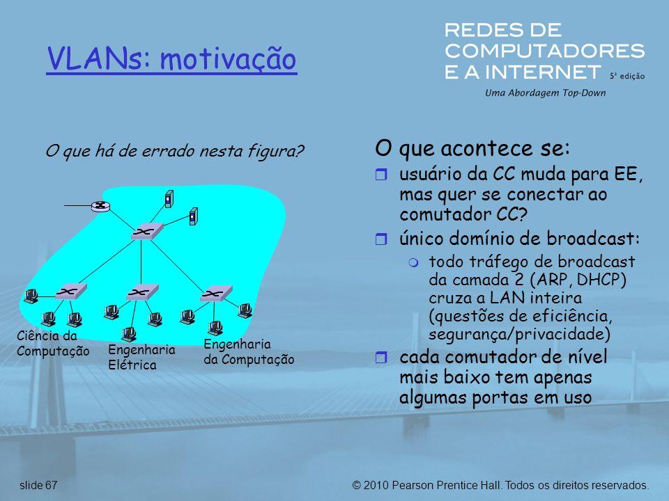 VLANs: motivação O que acontece se: