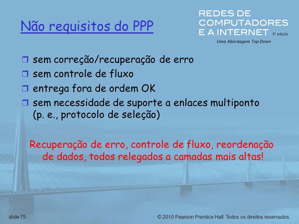 Não requisitos do PPP sem correção/recuperação de erro