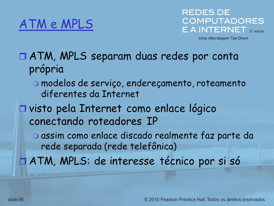 ATM e MPLS ATM, MPLS separam duas redes por conta própria