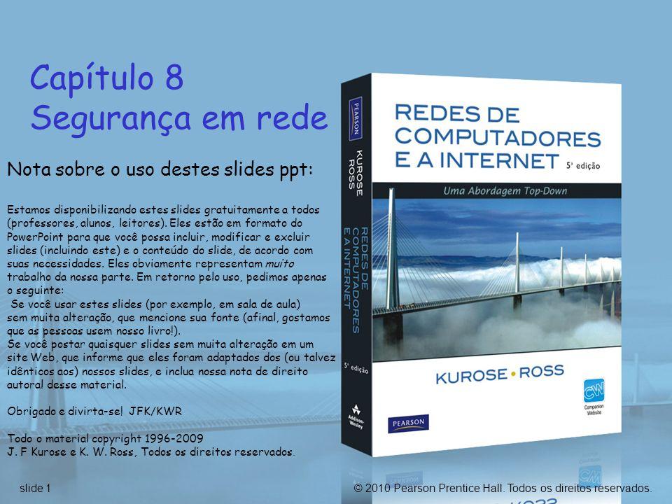 Capítulo 8 Segurança em rede