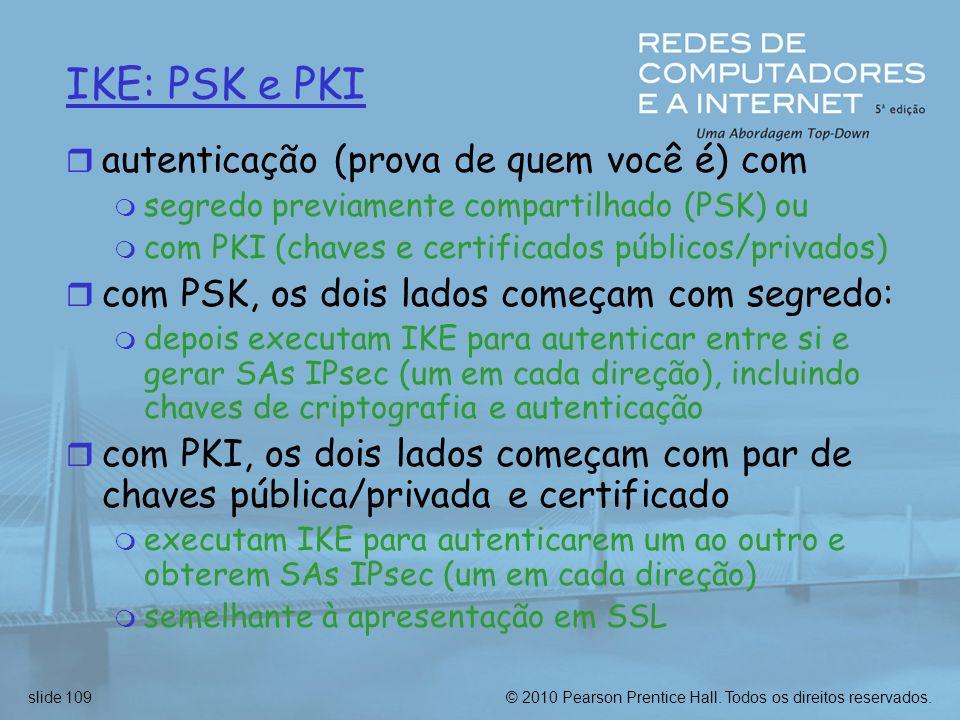 IKE: PSK e PKI autenticação (prova de quem você é) com