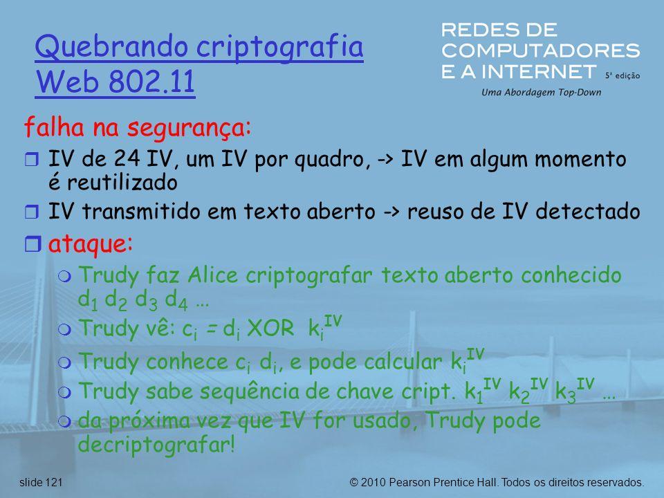 Quebrando criptografia Web 802.11