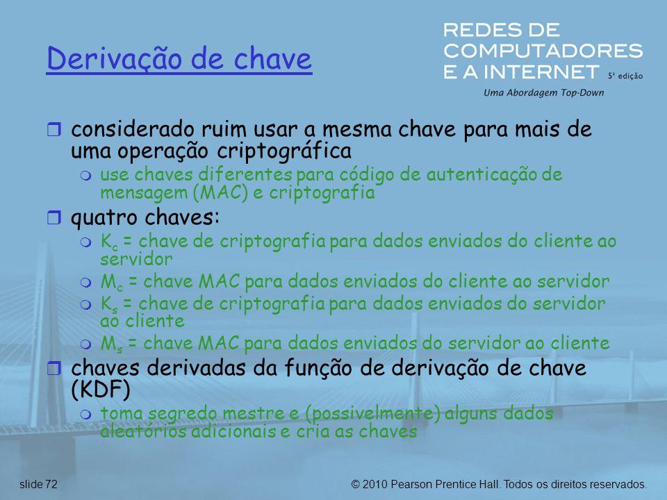 Derivação de chaveconsiderado ruim usar a mesma chave para mais de uma operação criptográfica.