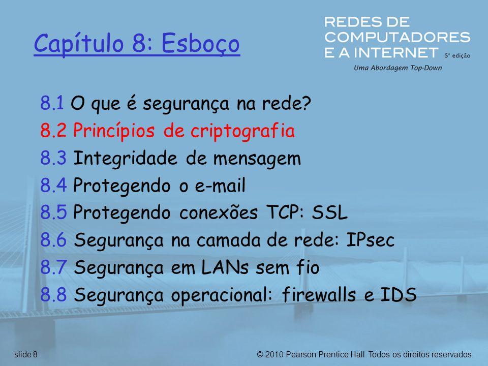 Capítulo 8: Esboço 8.1 O que é segurança na rede