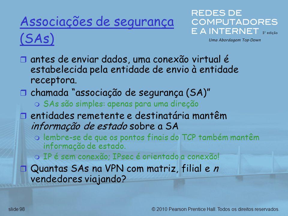 Associações de segurança (SAs)