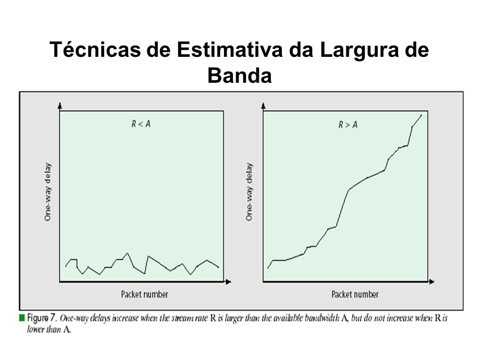 Técnicas de Estimativa da Largura de Banda