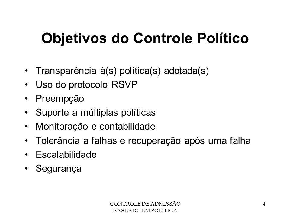 Objetivos do Controle Político