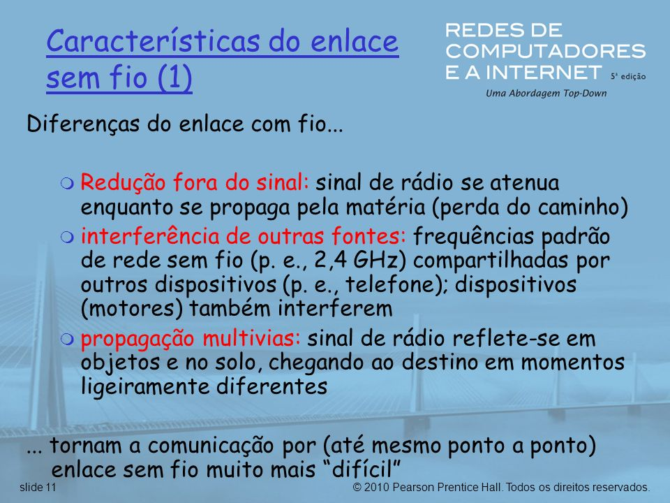Características do enlace sem fio (1)