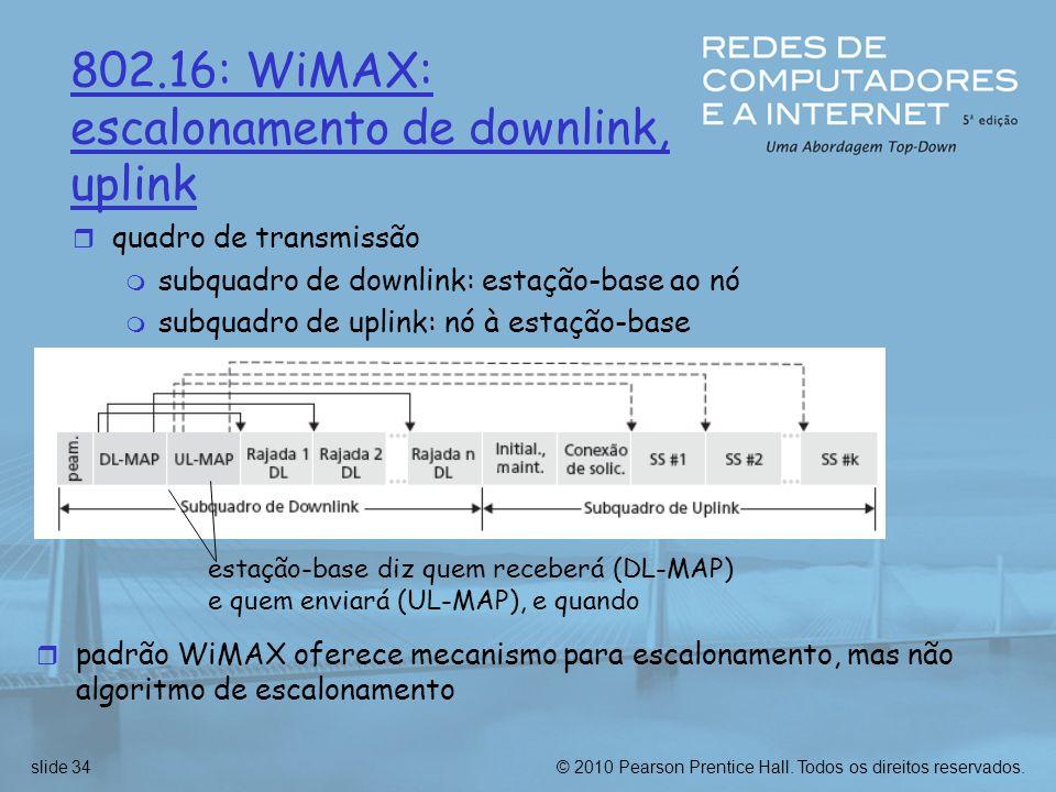 escalonamento de downlink, uplink
