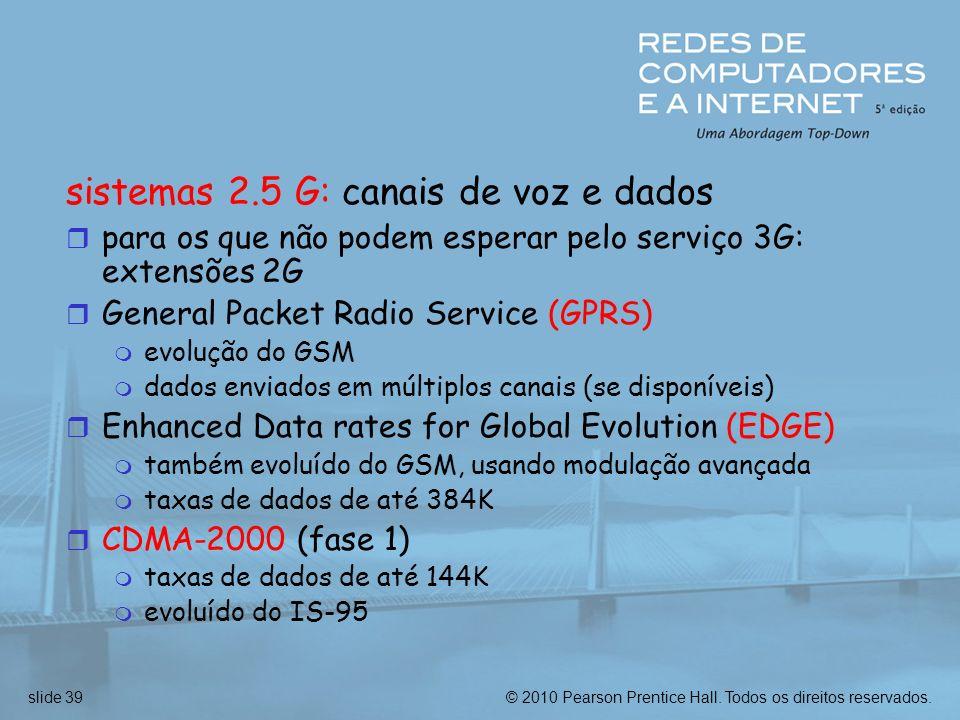 sistemas 2.5 G: canais de voz e dados
