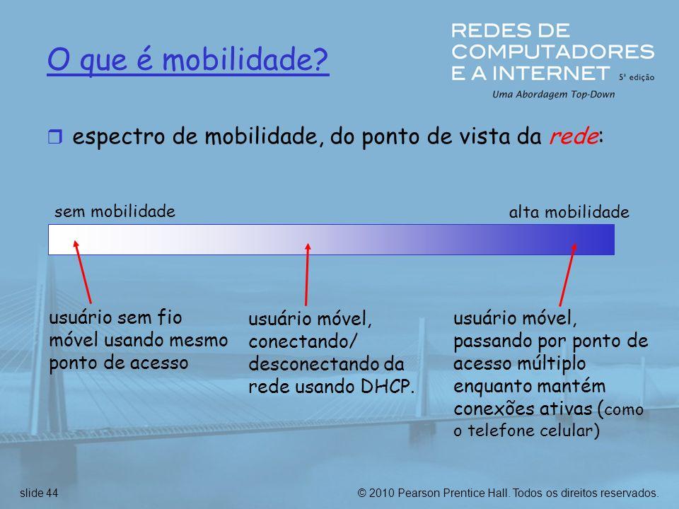 O que é mobilidade espectro de mobilidade, do ponto de vista da rede:
