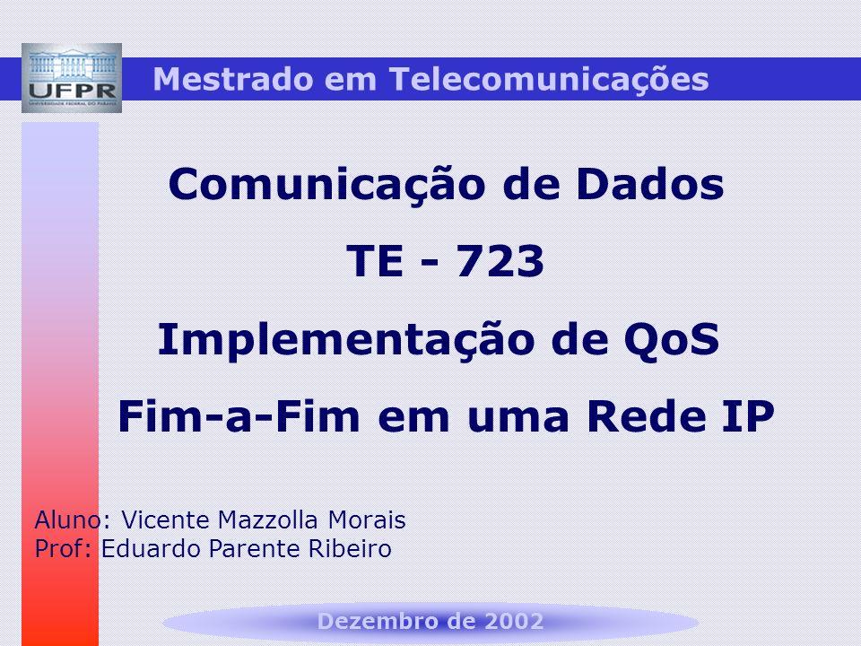 Mestrado em Telecomunicações Fim-a-Fim em uma Rede IP