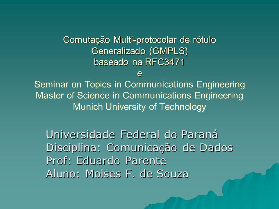 Universidade Federal do Paraná Disciplina: Comunicação de Dados
