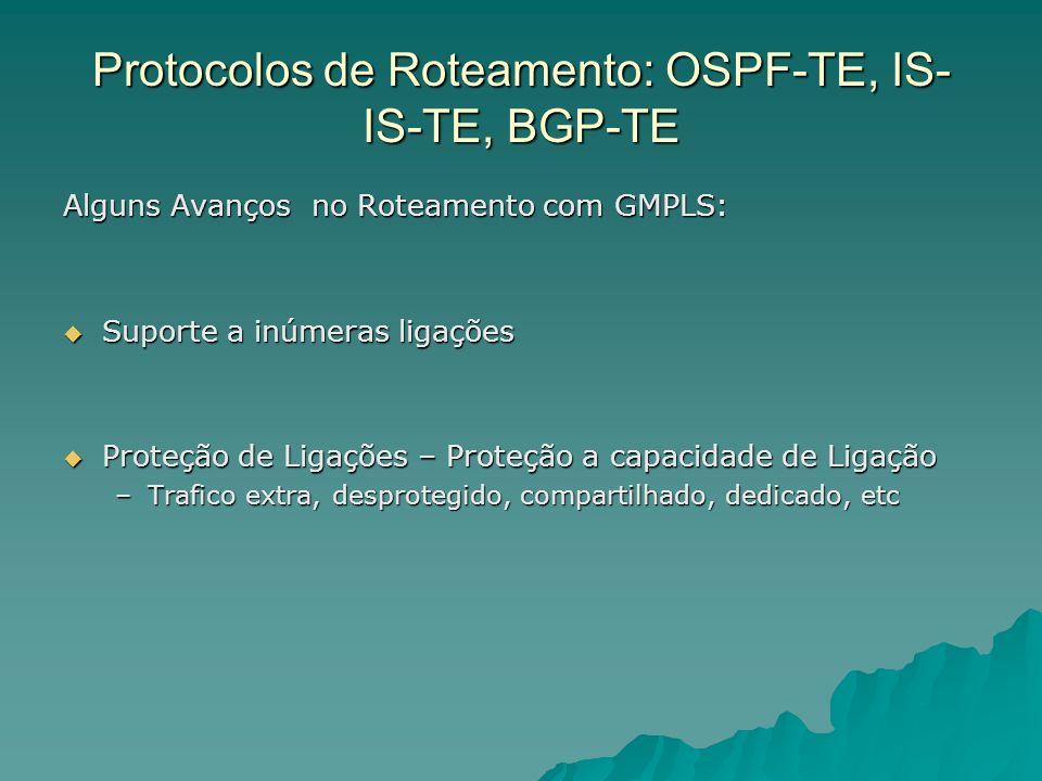 Protocolos de Roteamento: OSPF-TE, IS-IS-TE, BGP-TE