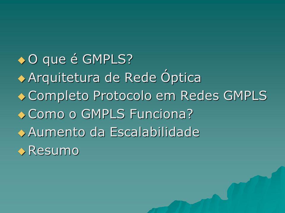 O que é GMPLS Arquitetura de Rede Óptica. Completo Protocolo em Redes GMPLS. Como o GMPLS Funciona