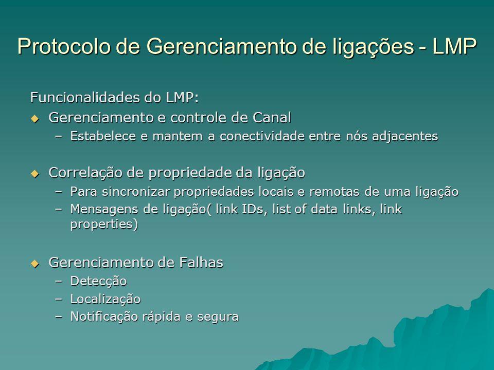 Protocolo de Gerenciamento de ligações - LMP