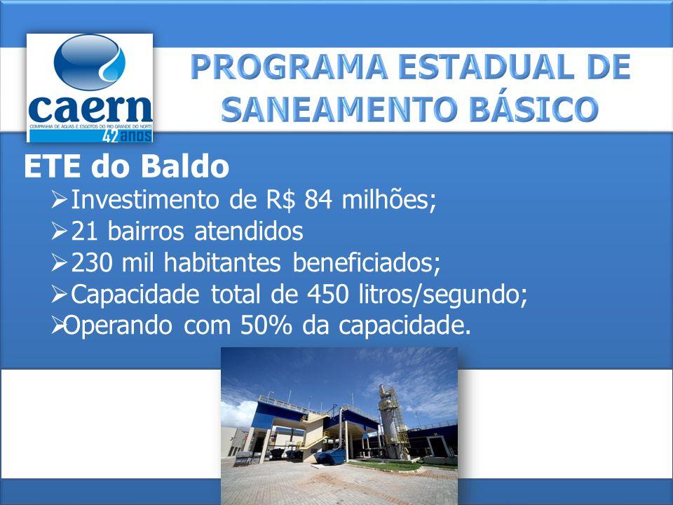 PROGRAMA ESTADUAL DE SANEAMENTO BÁSICO