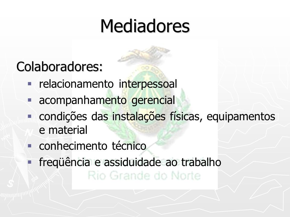 Mediadores Colaboradores: relacionamento interpessoal