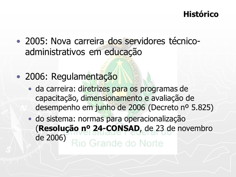 2005: Nova carreira dos servidores técnico-administrativos em educação
