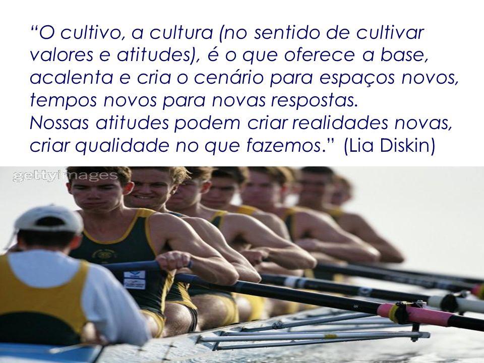 O cultivo, a cultura (no sentido de cultivar valores e atitudes), é o que oferece a base, acalenta e cria o cenário para espaços novos, tempos novos para novas respostas.