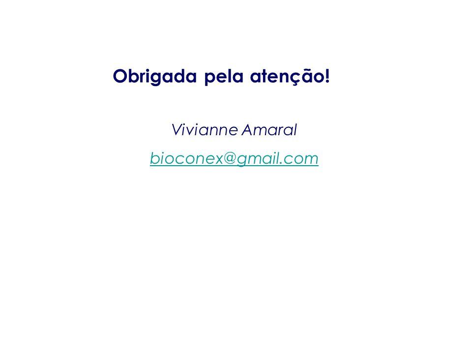 Obrigada pela atenção! Vivianne Amaral bioconex@gmail.com