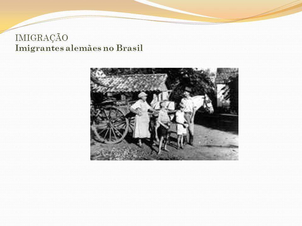 IMIGRAÇÃO Imigrantes alemães no Brasil