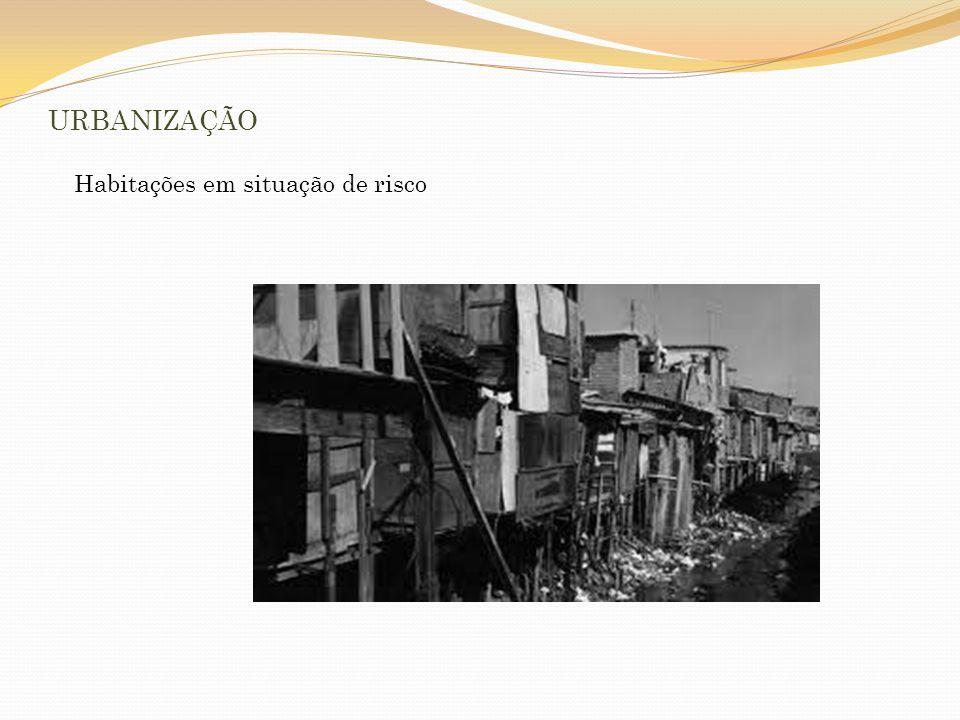 URBANIZAÇÃO Habitações em situação de risco