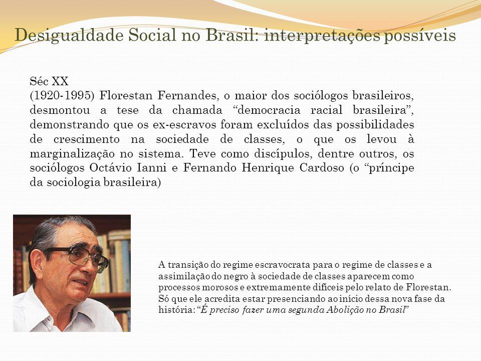 Desigualdade Social no Brasil: interpretações possíveis