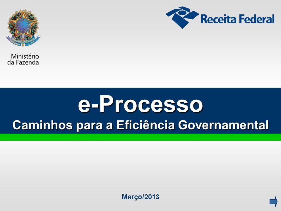 e-Processo Caminhos para a Eficiência Governamental Março/2013