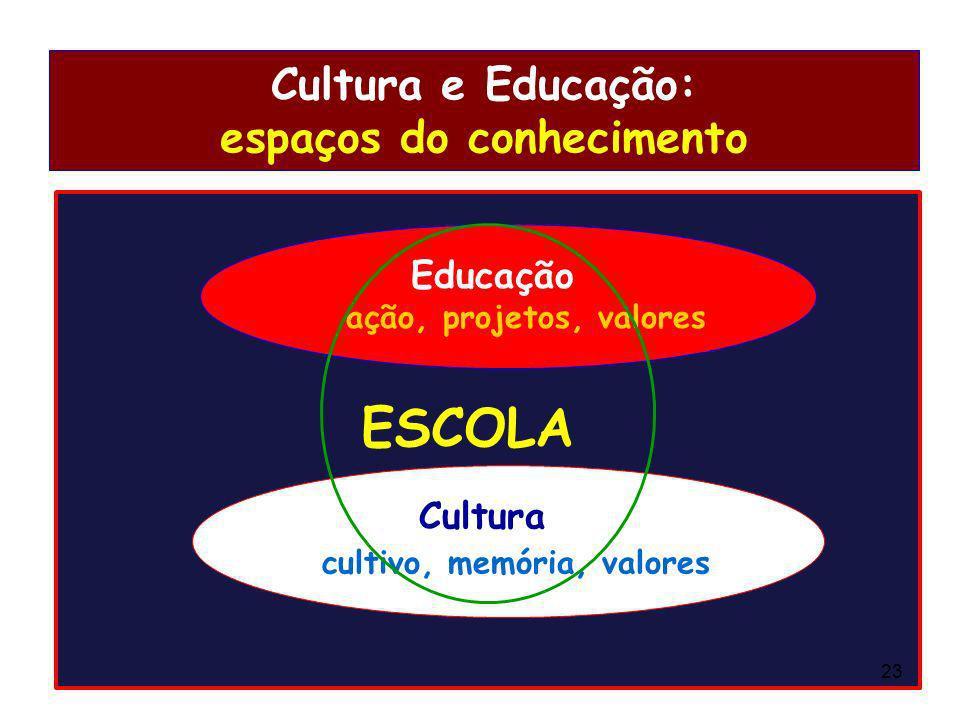 Cultura e Educação: espaços do conhecimento