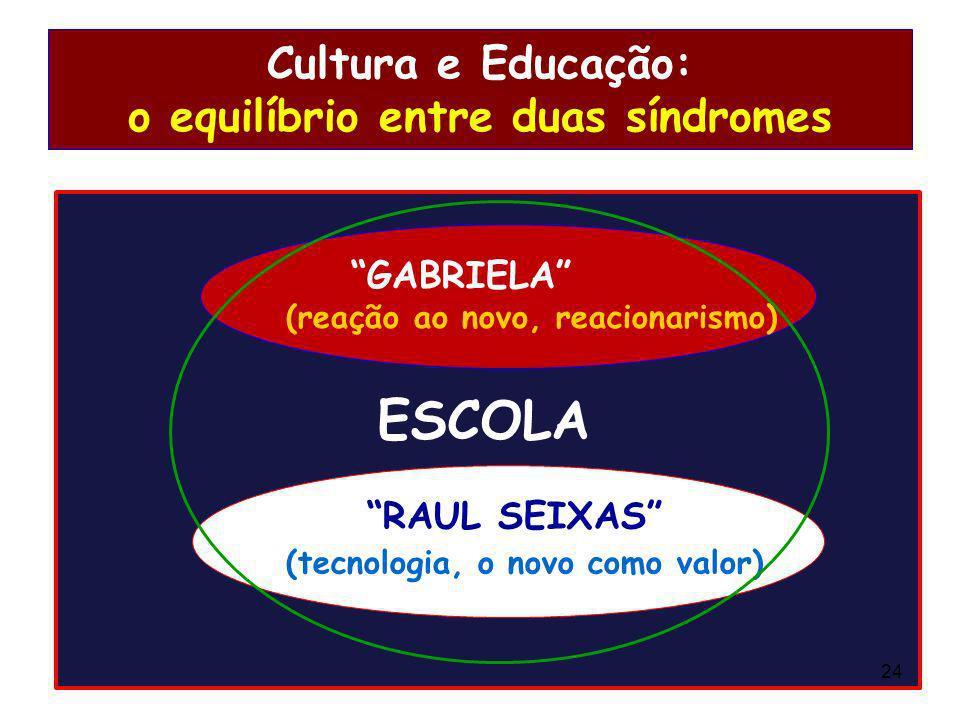 Cultura e Educação: o equilíbrio entre duas síndromes