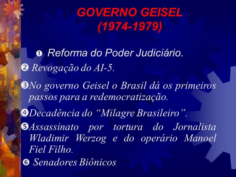GOVERNO GEISEL (1974-1979) Reforma do Poder Judiciário.