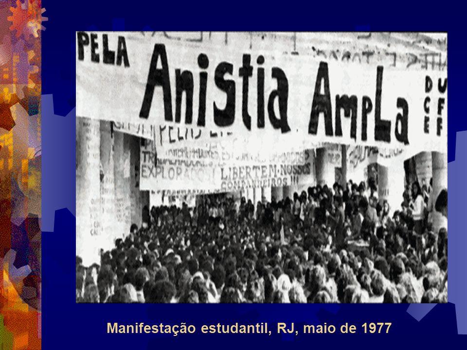 Manifestação estudantil, RJ, maio de 1977