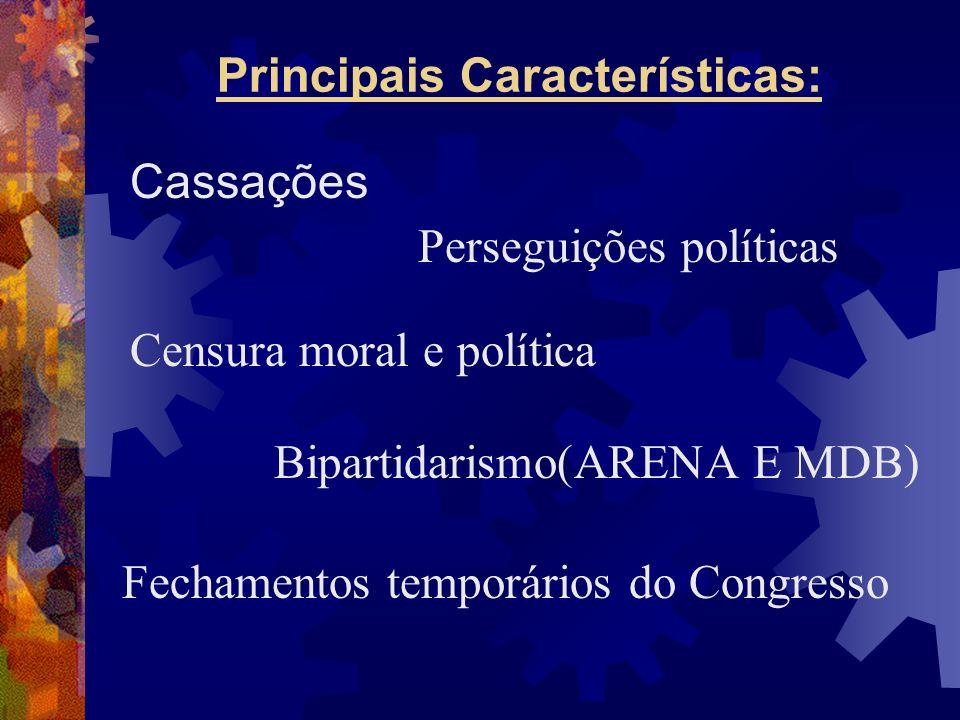 Principais Características: