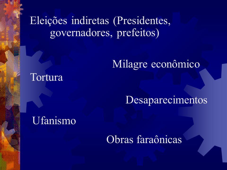 Eleições indiretas (Presidentes, governadores, prefeitos)