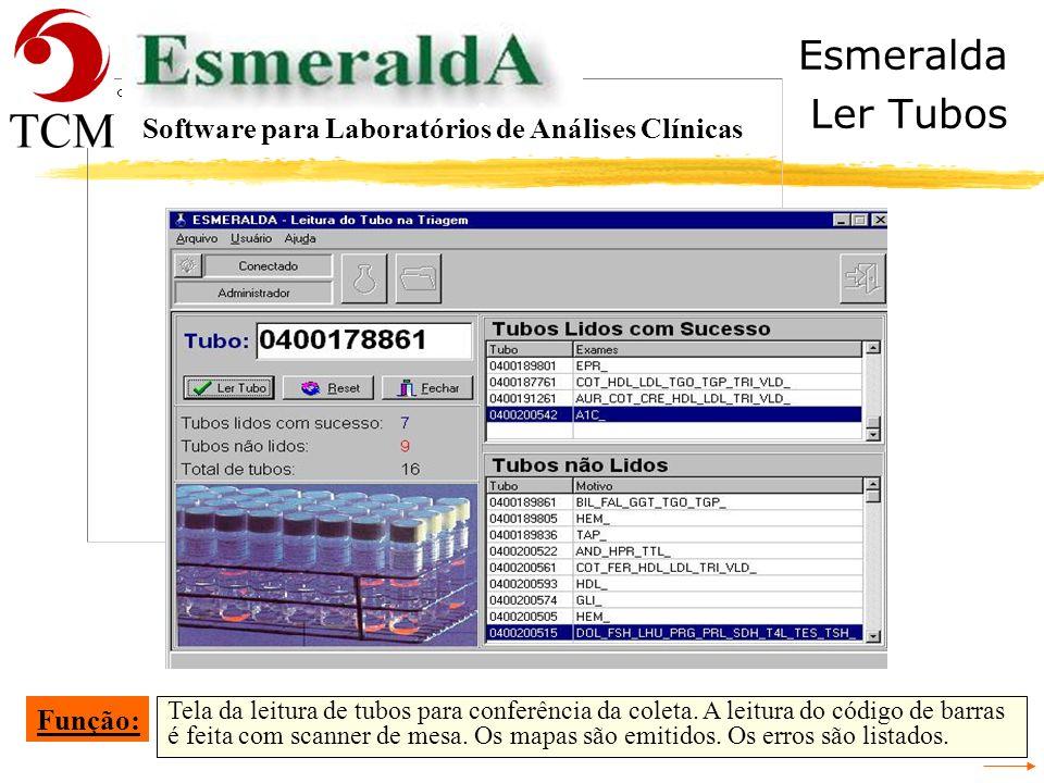 Esmeralda Ler Tubos Software para Laboratórios de Análises Clínicas